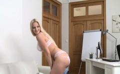Katy Pearl In Blonde Beauty in Casting Fuck