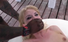 Blondes ass bbc creampied