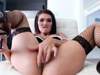 Trans Hottie Eva Lin Plays With Nasty Toys