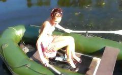 Amateur slovak Natasha in the boat