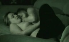 Two cute teens kissing and fingering on the couch