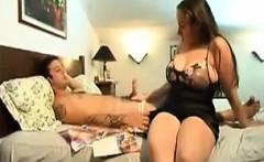 big boobs wife cuckold with cumshot