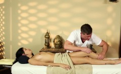 Massage beauty fingered during blowjob