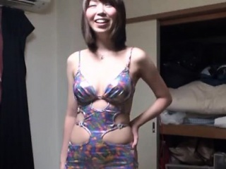 Ass oriental milf appears naked and with a big dick in her