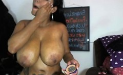 BBW Ebony Playing With Boobs And Fucked