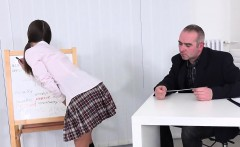 Lovely Schoolgirl Gets Seduced And Screwed By Her Older Scho
