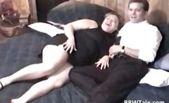 Chubby milf takes some cock wildly