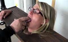 Jacky rides and blowjob on Sybian