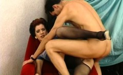 Horny Old Mama Fucked In Pantyhose