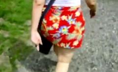 Big boobs amateur teen outdoor public fuck