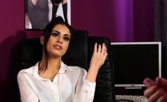 stockinged brit voyeur instructs office sub