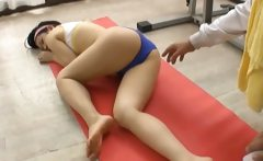 Hot Japanese girls in sporty sex action