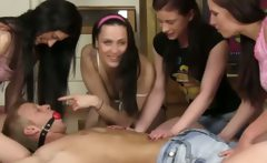 Dominant young teens hold down dude and sit on his face