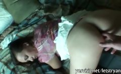 Cute amateur gf tight asshole fingered and slammed on tape