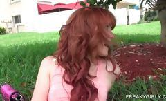 Outdoor cunt teasing with teen sex siren