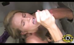 Black Cock Gloryhole for a White Teen!