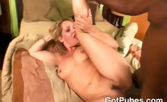 Amazing MILF plays with her hairy pussy and gets fucked by