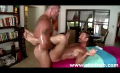 Young straight guy assfucked deep by mature gay masseur on