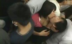 on train japan girl