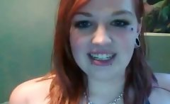 Chubby redhead emo teen making out