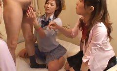 Japanese sluts take turns to suck fat