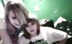 Nasty emo lesbians having fun on webcam
