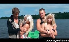Awesome sexy babes get to a outdoor