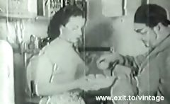 1936 Vintage with hairy amateur Housewife