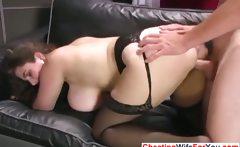 Busty MILF get her ass fucked
