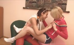 Russian Natasha and Alice at bedroom