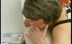 Grandma get fucked and swallows