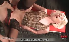 Blonder German girl gets fucked in a GGG