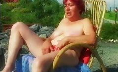 Fat granny sucking fresh dick