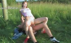 Brutal girls anal outdoor sex