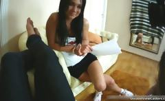 Awesome brunette babe Anya sucks hard