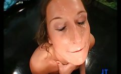 Sexy blonde babe gets her wet pussy