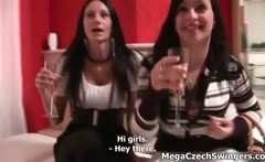 Dirty brunette slut gets horny talking
