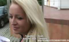 Tight horny blond chick gets morning surprise