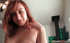 Amazing hot big boobed redhead slut