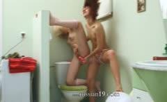 latvian serious dildo testing on toilet