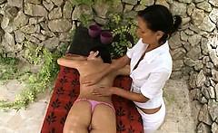 Deep massage and sapphic fisting
