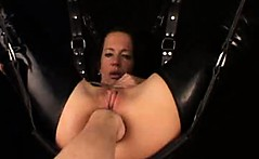 Bizarre mature amateur wife extreme anal fisting fetish