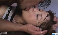 Maomi Nakazawa gives a slow asian blow job and gets fucked