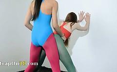 Hairy lesbians in nylon pants sex