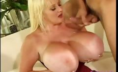 Nasty mommy with the biggest boobs you can imagine goes