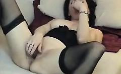 Hot dark haired slut with sexy body