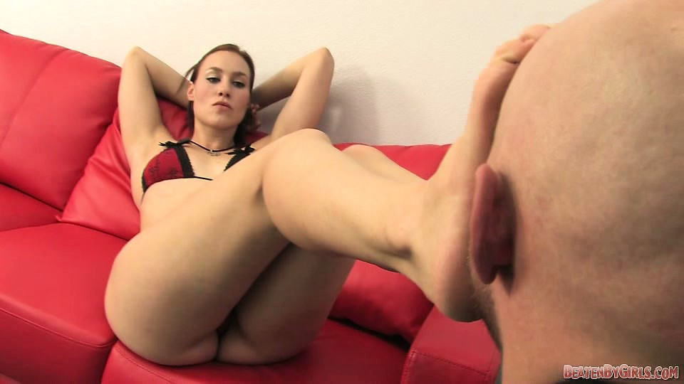 Young oily brunette get fucked hard