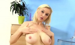 pee fetish busty blonde plays with piss