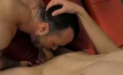 Mature hunk Jason Valencia sucking on a hard cock