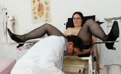 Curvicous huge tits wife old pussy checkup